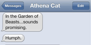 Text from cat: Book review