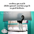 sometimes you need to / stretch yourself, and find ways to / see past obstacles #HaikuByCat #Haikusday #MicroPoetry