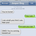 Text from dog: OMG! You're home!