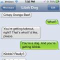 Text from dog: I'll take crispy orange beef please.
