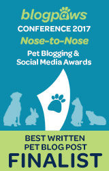 Life with Dogs and Cats is named 2017 BlogPaws Nose to Nose Finalist